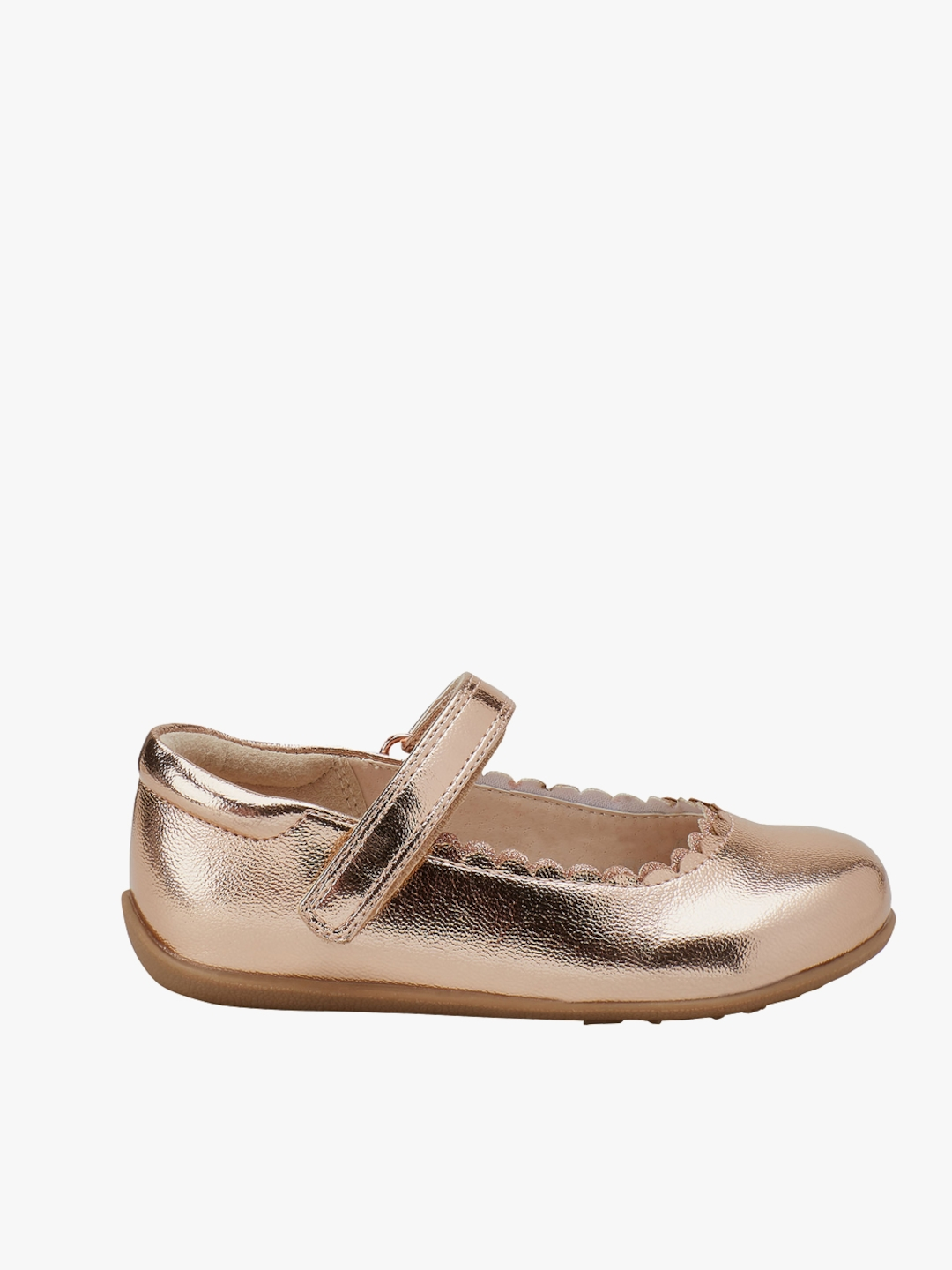c0dfd27c68d5 Buy Next Rose Gold Toned Scallop Mary Jane Shoes - Flats for Girls ...