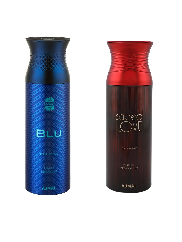 Buy Ajmal Unisex Blu Homme Sacredlove Set Of 2 Deodrants