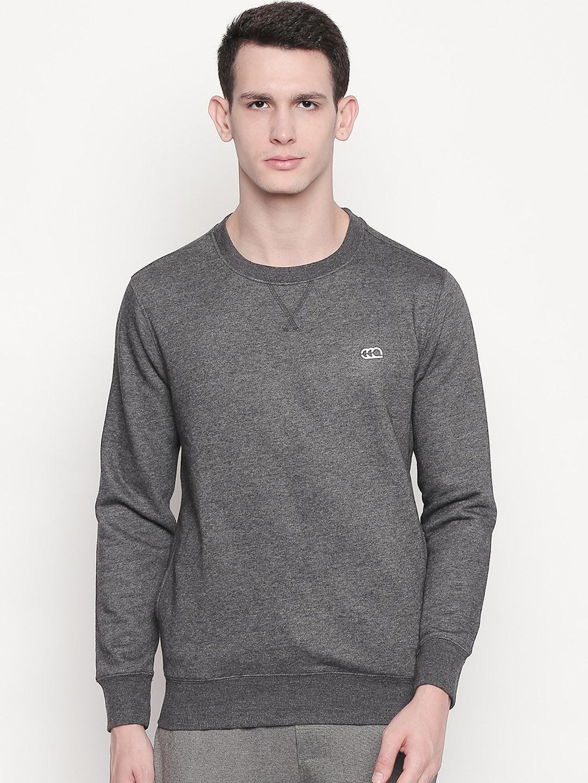 Ajile by Pantaloons Men Grey Solid Sweatshirt