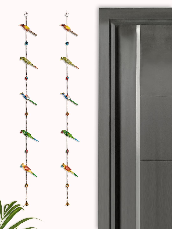 ExclusiveLane Set of 2 Multicoloured Handpainted Wall Hangings
