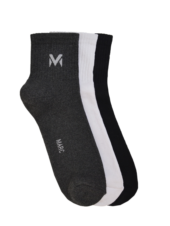 MARC Men Pack of 3 Solid Ankle Length Socks