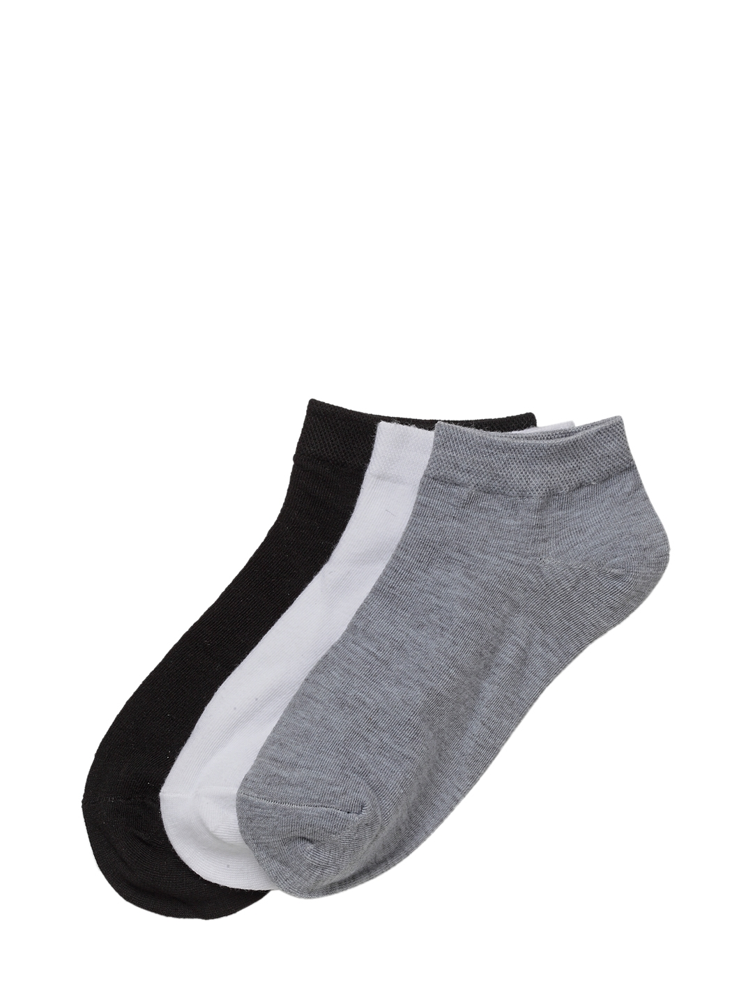 J Style Women Pack of 3 Solid Ankle Length Socks