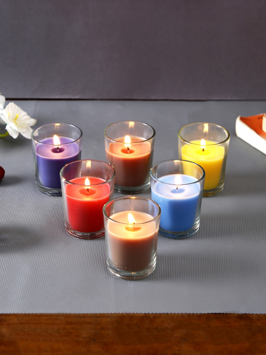 Hosley Set of 6 Scented Glass Candles