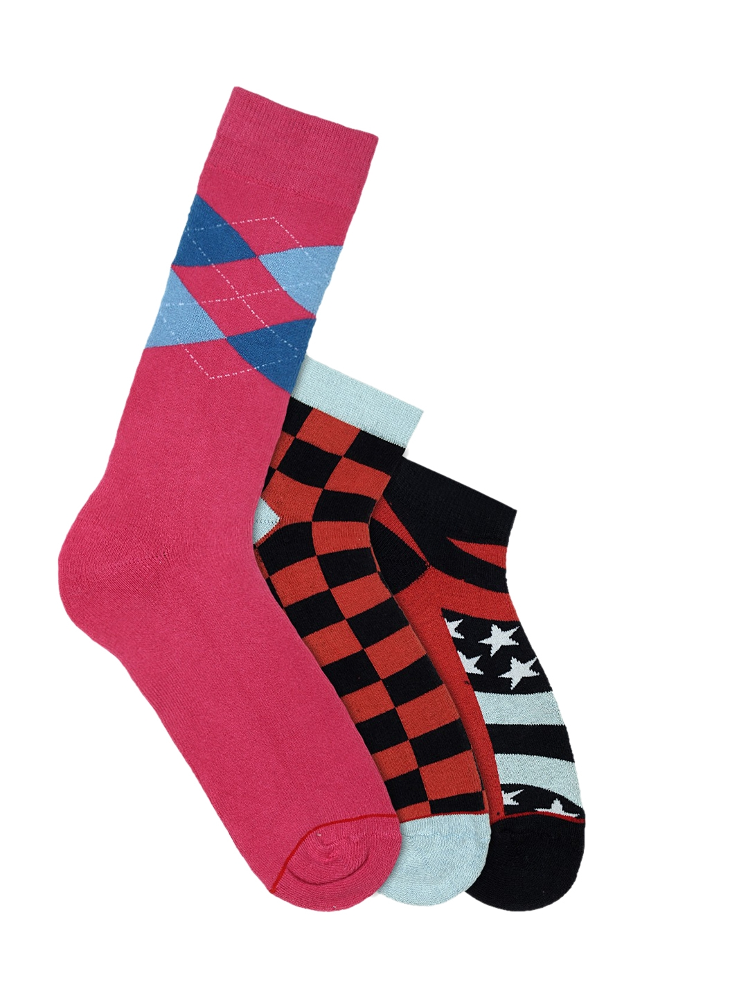 <p>Soxytoes Sockaholic Men Pack of 3 Multi Coloured Patterned Casual Socks</p>