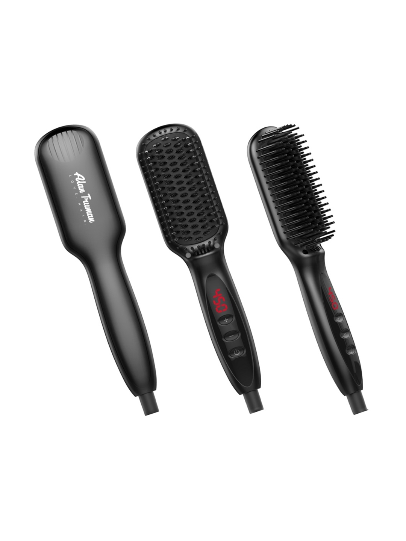 Alan Truman Women Black Hot Brush Hair Straightener AT 201