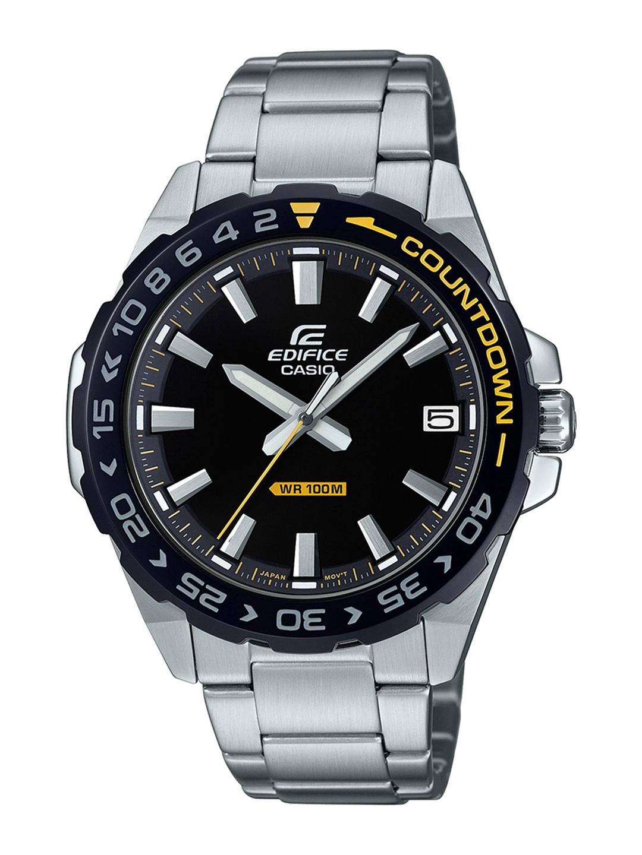 CASIO Edifice Men Black Analogue Watch ED481 EFV 120DB 1AVUDF