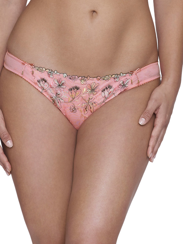 Ultimo Plus Size Women Pink Self Design Bikini Briefs Y0005