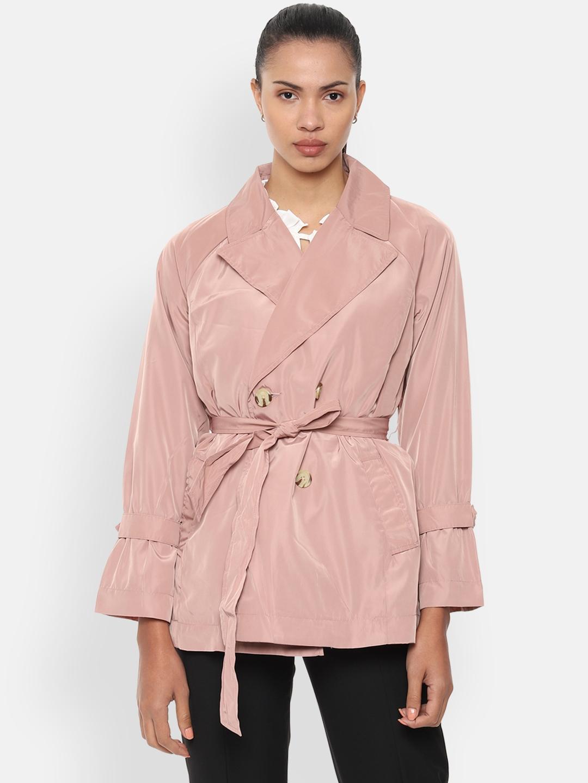 Van Heusen Woman Pink Solid Tailored Jacket