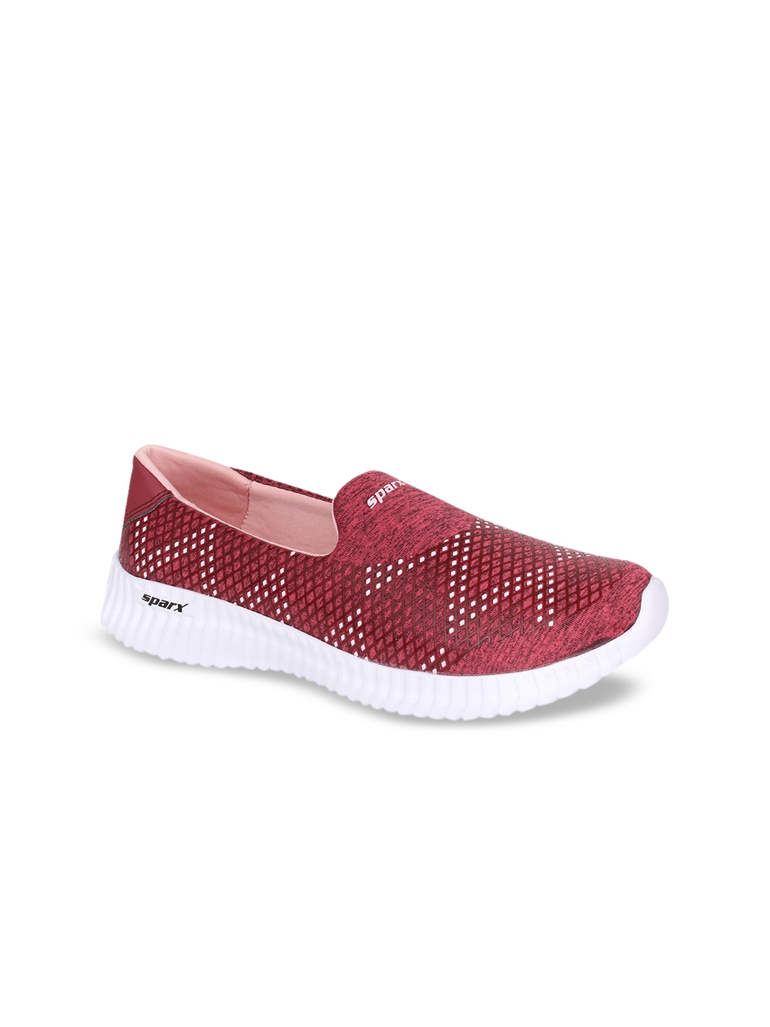 Sparx Women Maroon Canvas Running Shoes