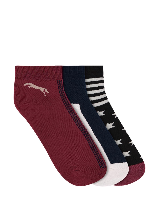 JUMP USA Men Pack Of 3 Patterned Ankle Length Socks