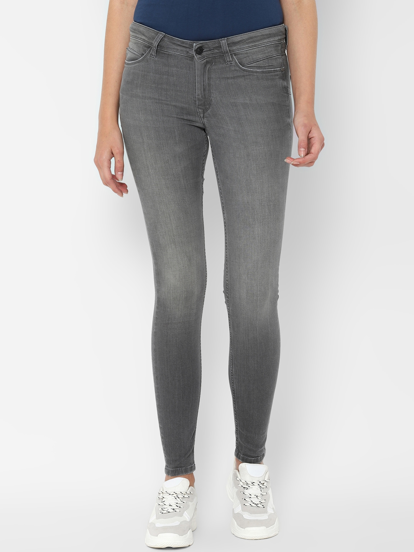 Allen Solly Woman Women Grey Regular Fit Jeans