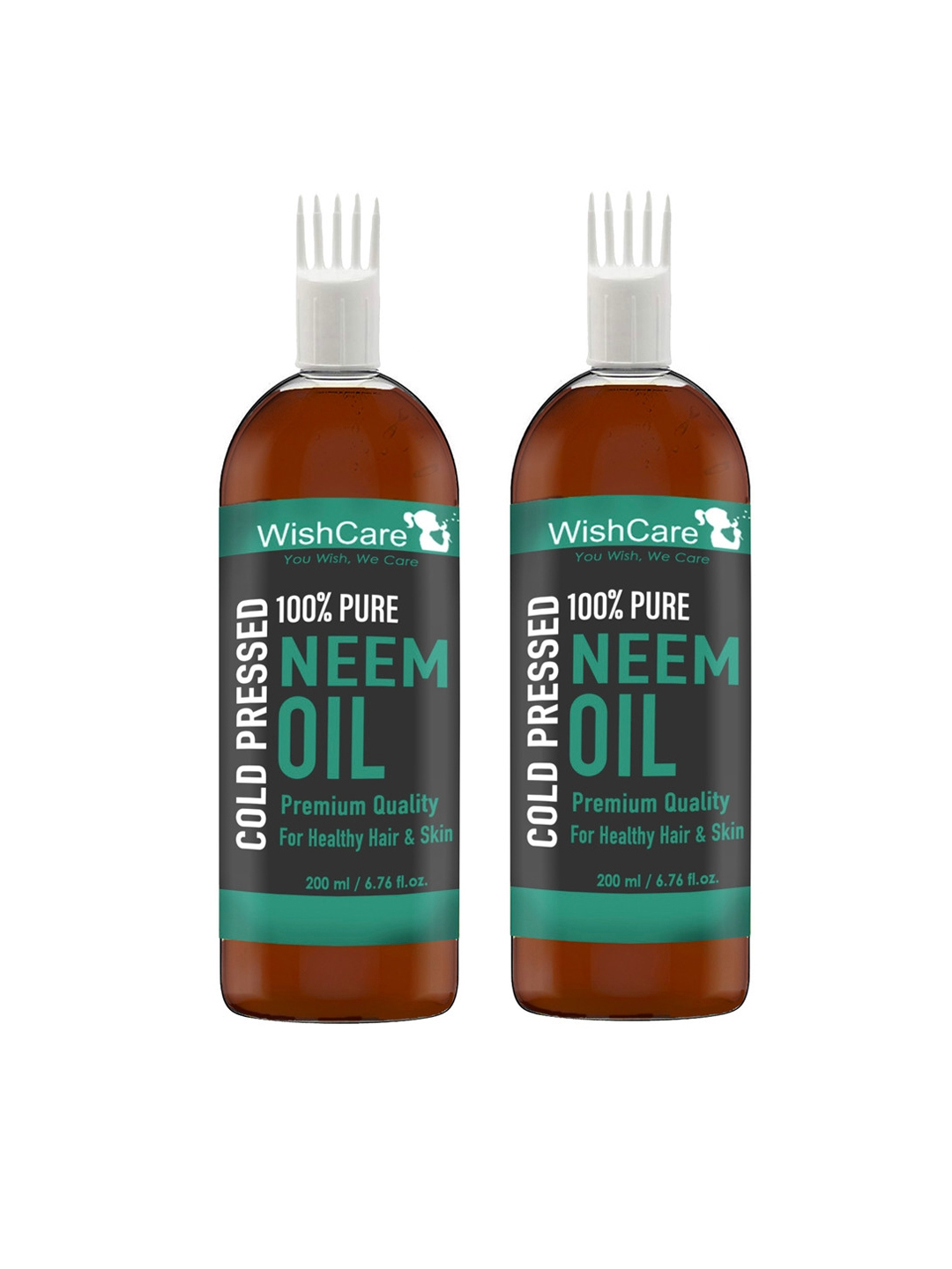 Wishcare Pack Of 2 Cold Pressed Neem Oil   200 Ml