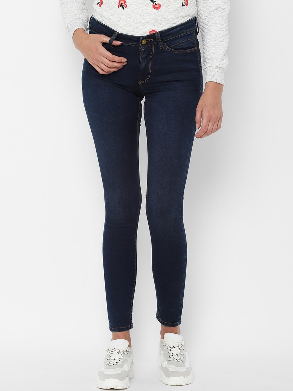Allen Solly Woman Women Navy Blue Regular Fit Jeans