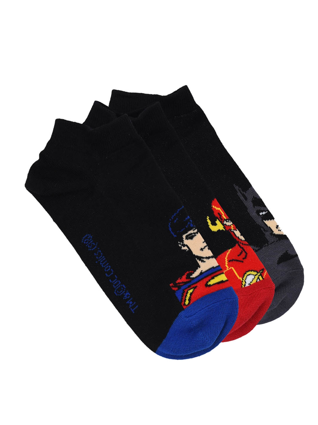 Justice League Men Pack of 3 Assorted Ankle Length Socks