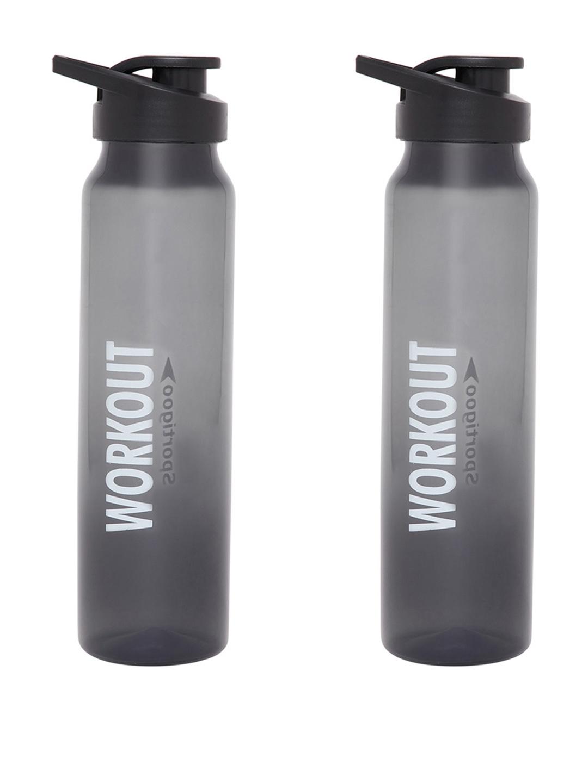 Sportigoo Black Set of 2 Water Bottles 1000 ML