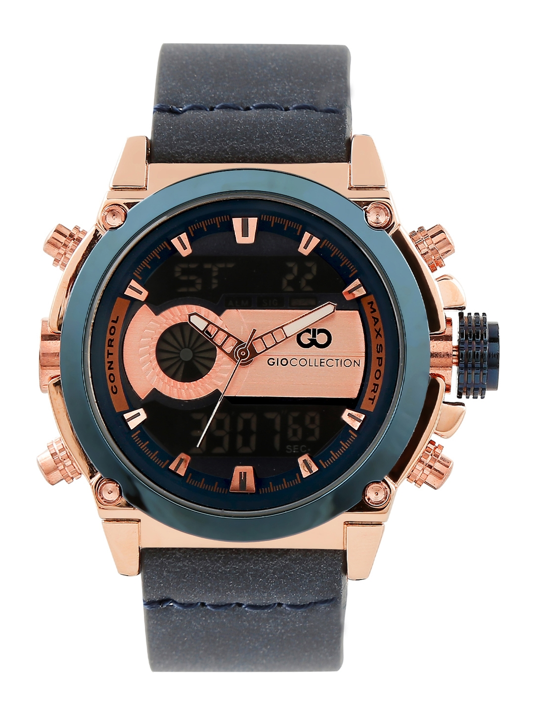 GIO COLLECTION Men Blue Analogue and Digital Watch G3010 03