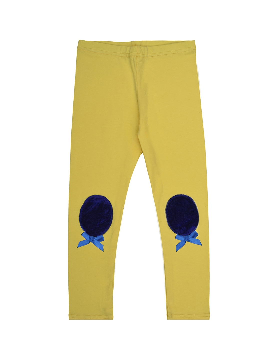 Dchica Girls Yellow Solid Ankle Length Legging