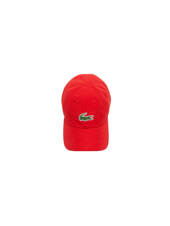 72107d5a5f Buy Lacoste Men Red Solid Baseball Cap - Caps for Men 8835477 | Myntra