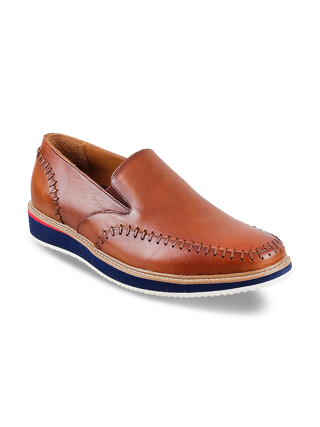 0e5b3774b2914 Buy Metro Men Tan Brown Leather Slip On Sneakers - Casual Shoes for ...