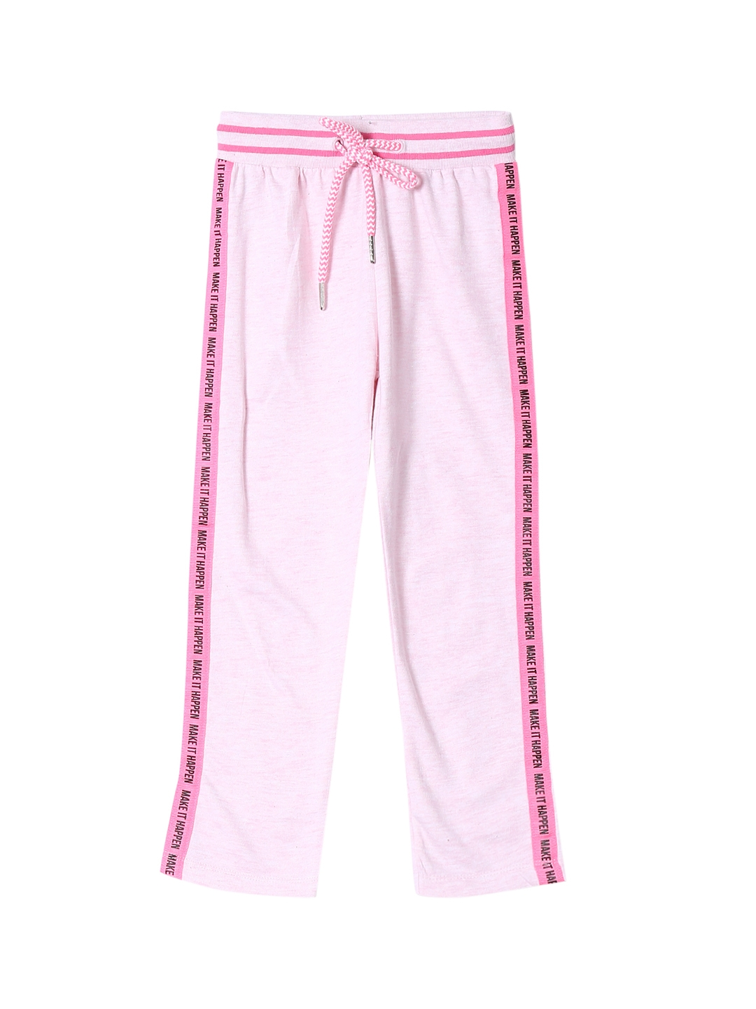 Cherokee Girls Pink Solid Regular Fit Trackpant