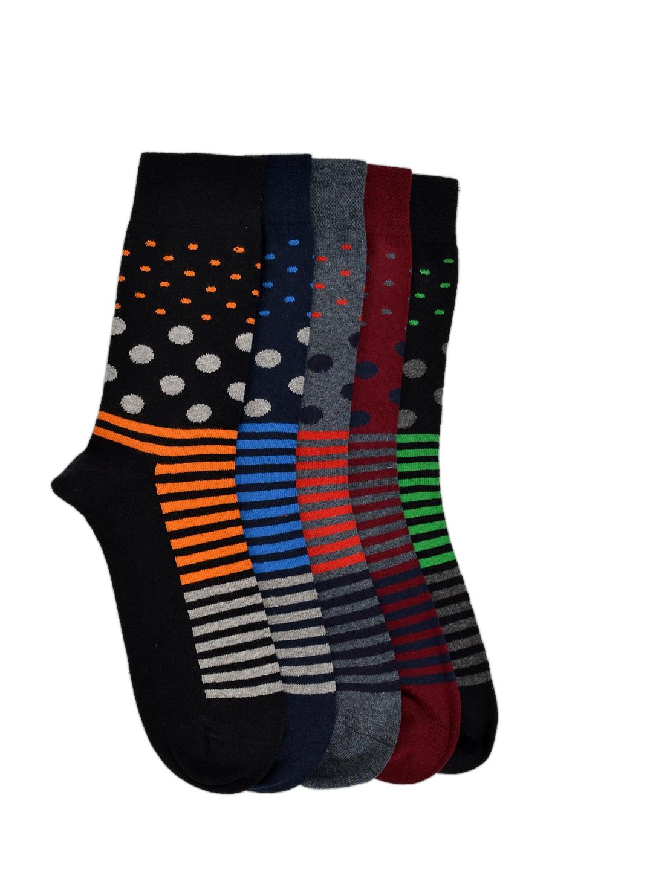 VINENZIA Men Pack of 5 Crew Length Socks