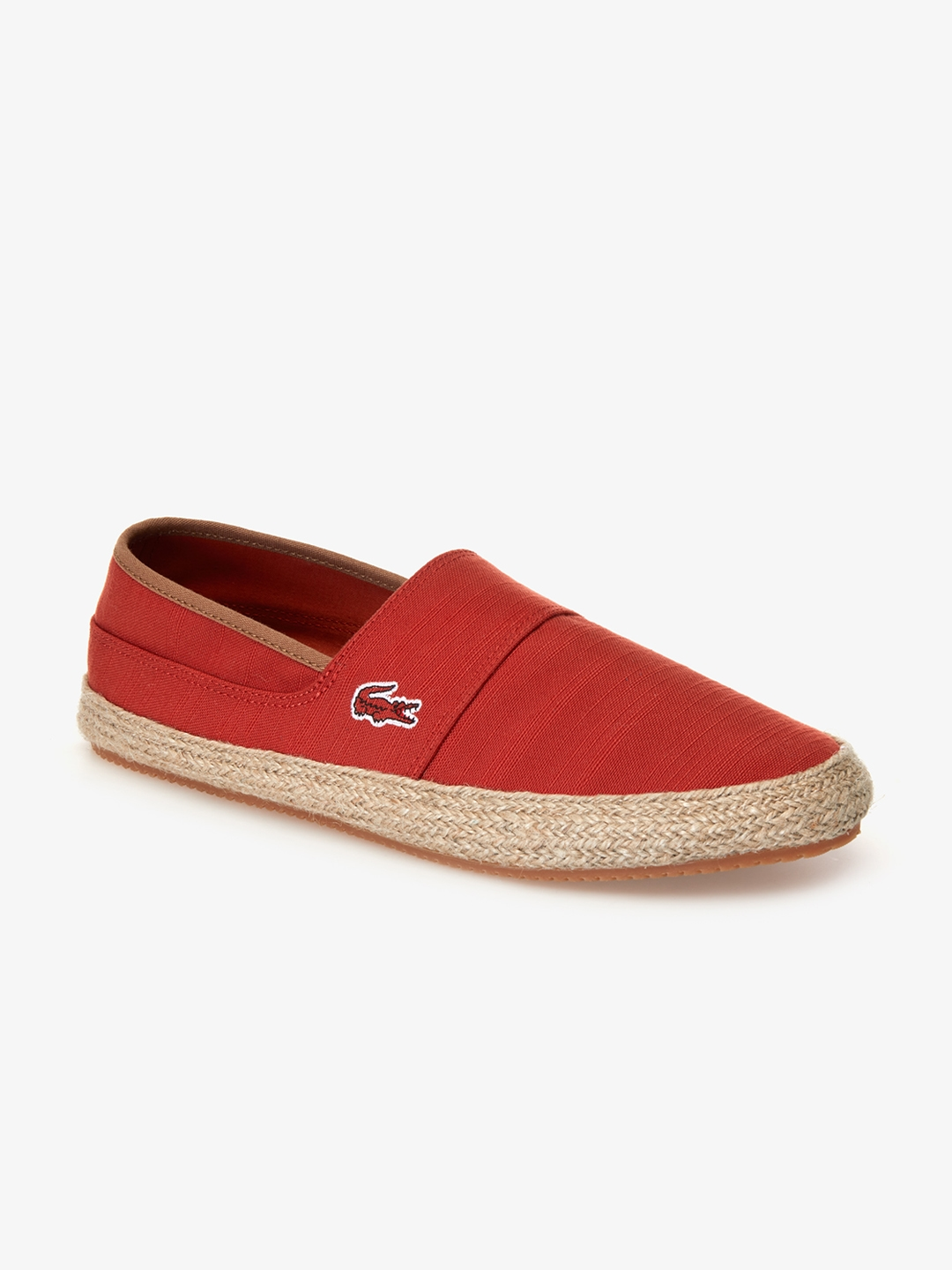 2e5ab3b73 Buy Lacoste Men Red Solid Espadrilles - Casual Shoes for Men 8985757 ...