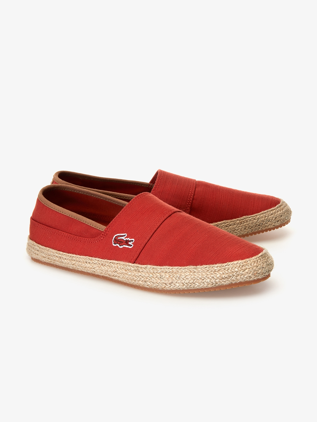 8da506f0a Buy Lacoste Men Red Solid Espadrilles - Casual Shoes for Men 8985757 ...