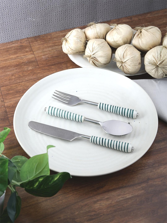 VarEesha Set Of 3 Green Stainless Steel Spoons Set