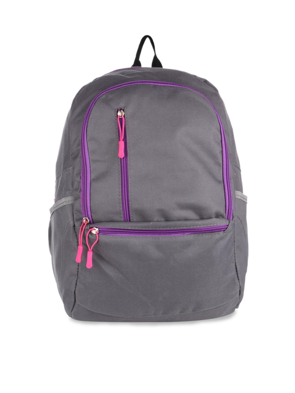 Satchel Bags Women Grey Solid Backpack