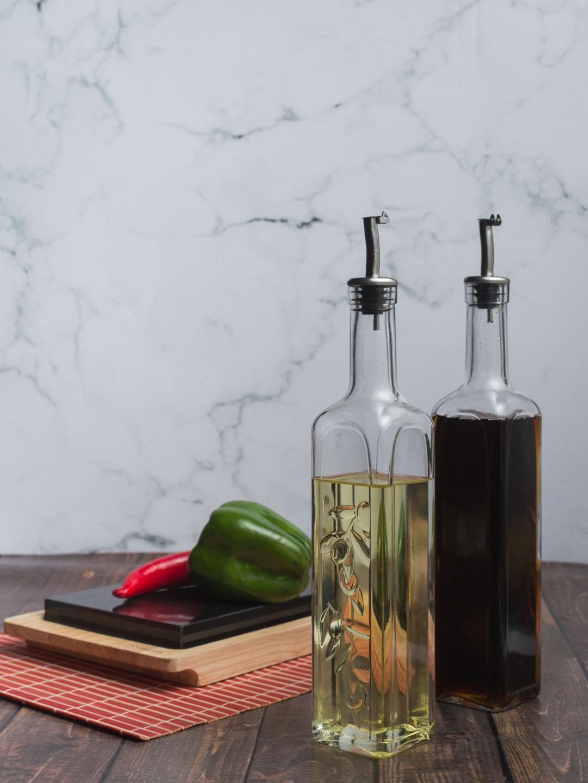 Pasabahce Set of 2 Transparent Glass Oil Dispensers 500 ml