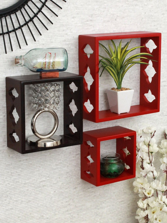 Home Sparkle Set of 3 MDF Wall Shelves