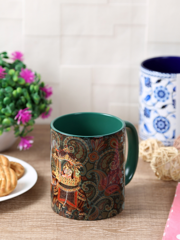 Reinvention Factory Green Ceramic Coffee Mug