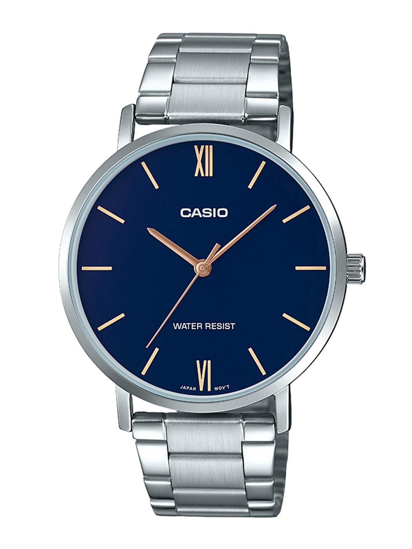 CASIO Enticer Men Blue Dial Analog Watch MTP VT01D 2BUDF   A1613
