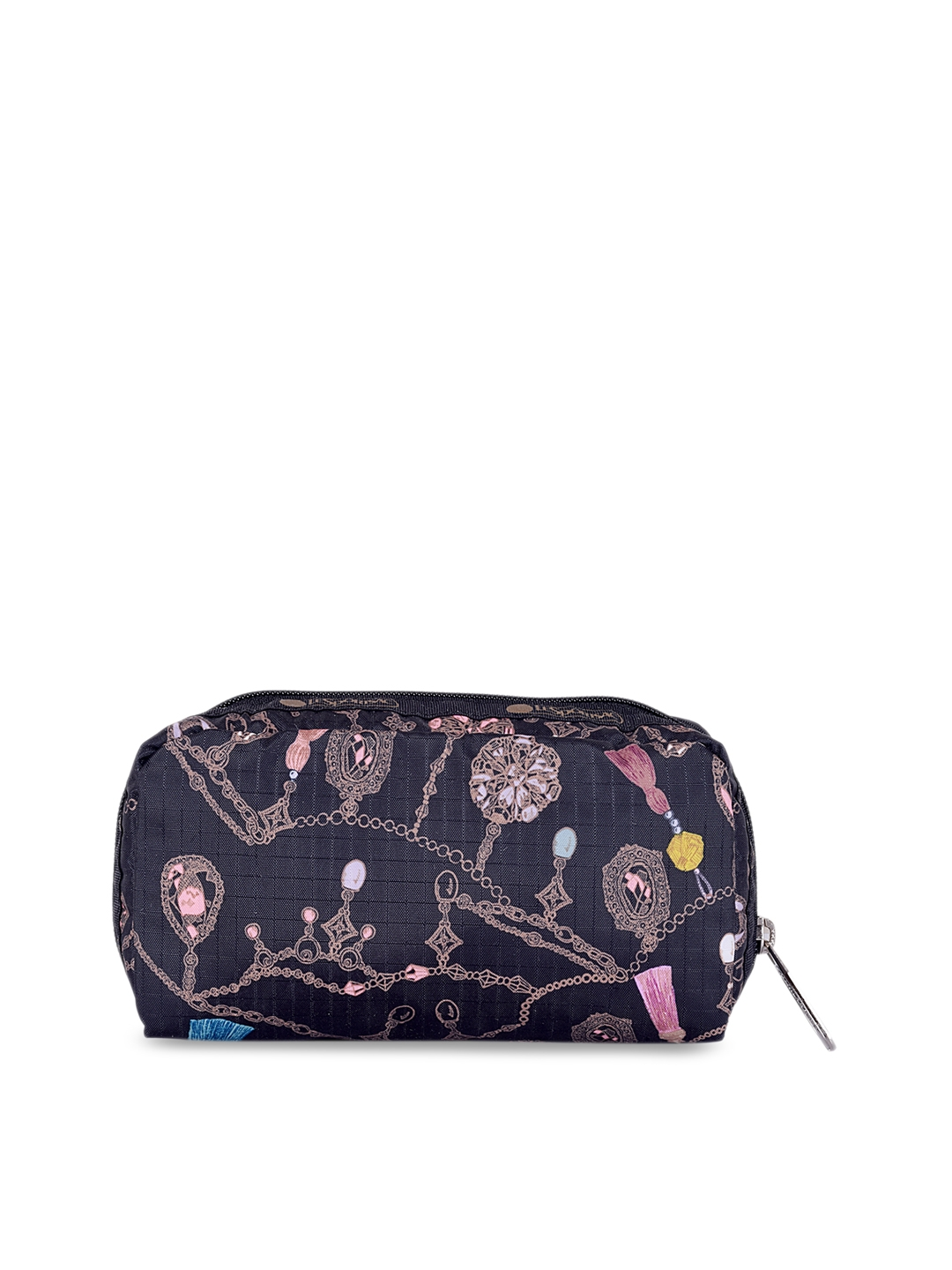 LeSportsac Blue   Pink Printed Rectangular Cosmetic Pouch