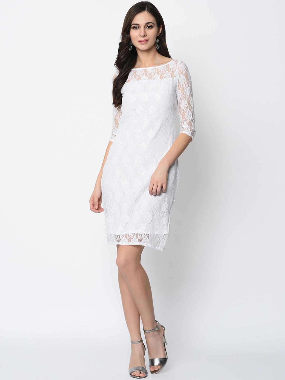 SIRIKIT Women White Sheath Dress