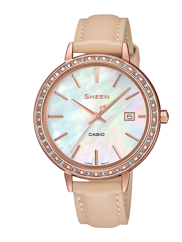 Casio Sheen Women Silver Analogue watch SX246 SHE 4052PGL 7BUDF
