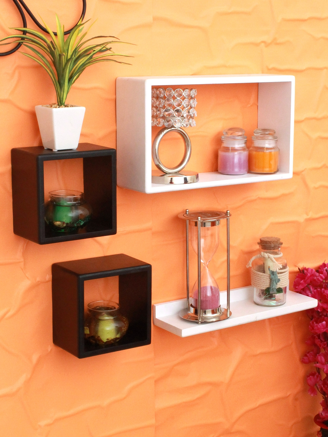 Home Sparkle Set of 4 Wall Shelves