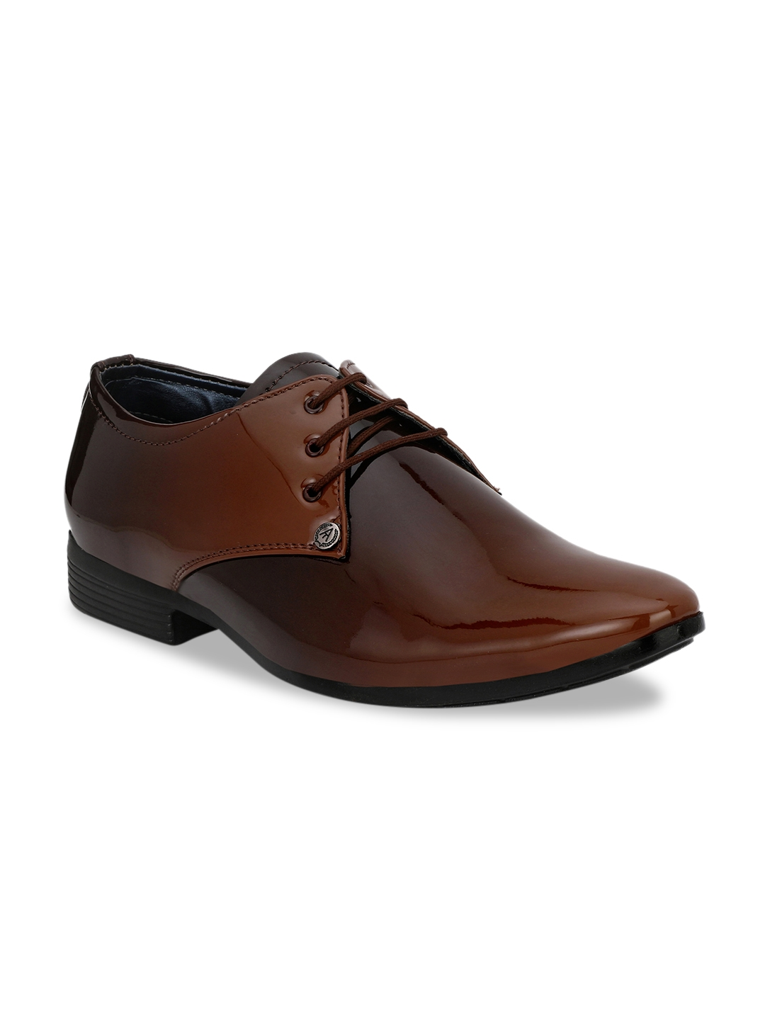 Ferraiolo Men Brown LaceUp Formal Brown Shoe Ferraiolo Formal Shoes