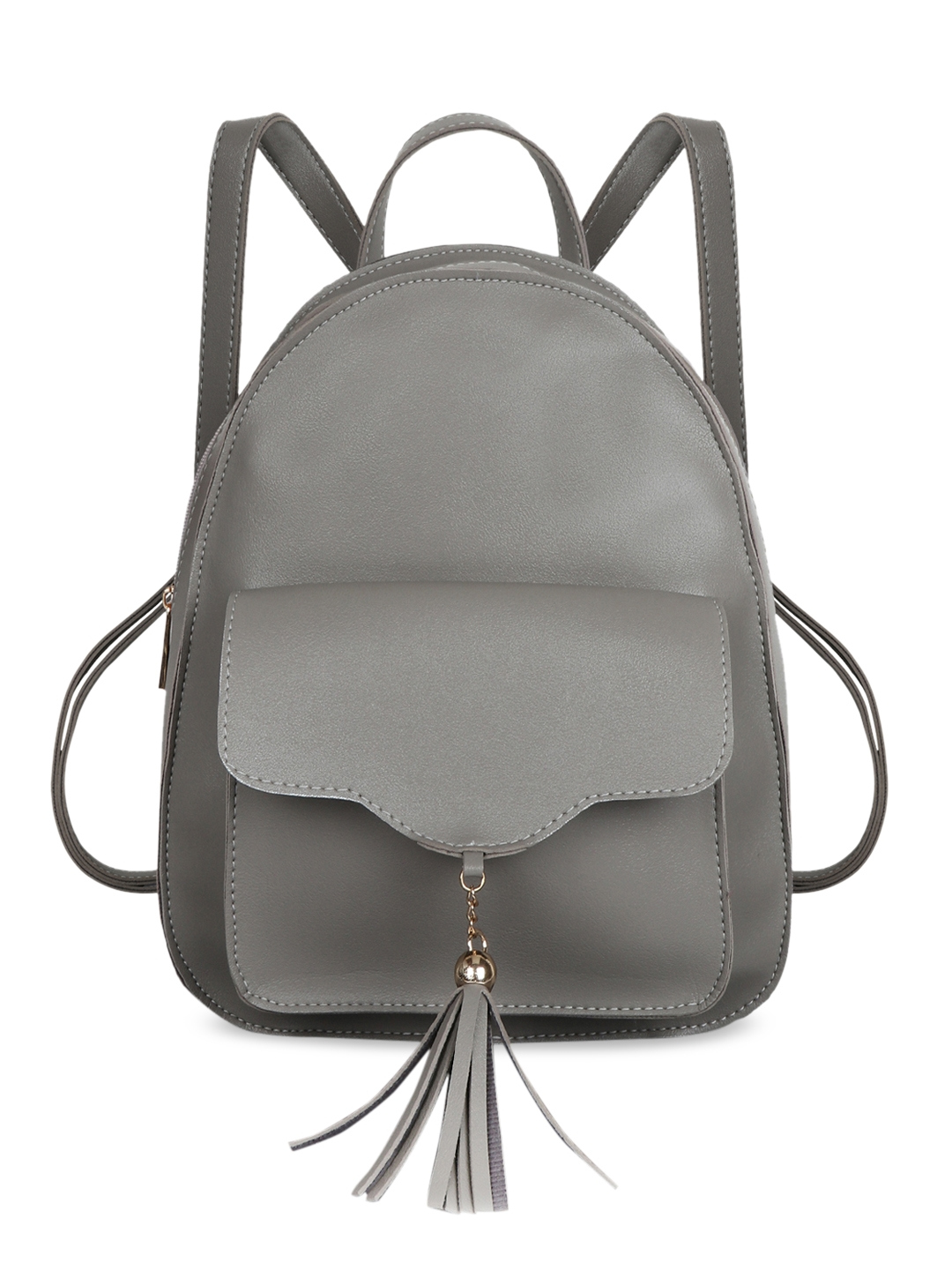 Lychee bags Women Grey Solid Backpack