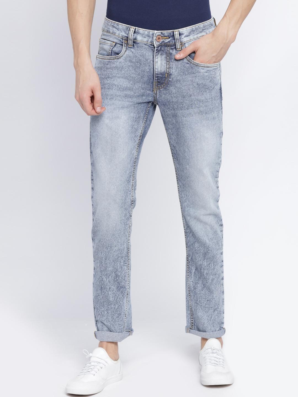 Newport Men Blue Jean Slim Fit Mid Rise Clean Look Stretchable Jeans