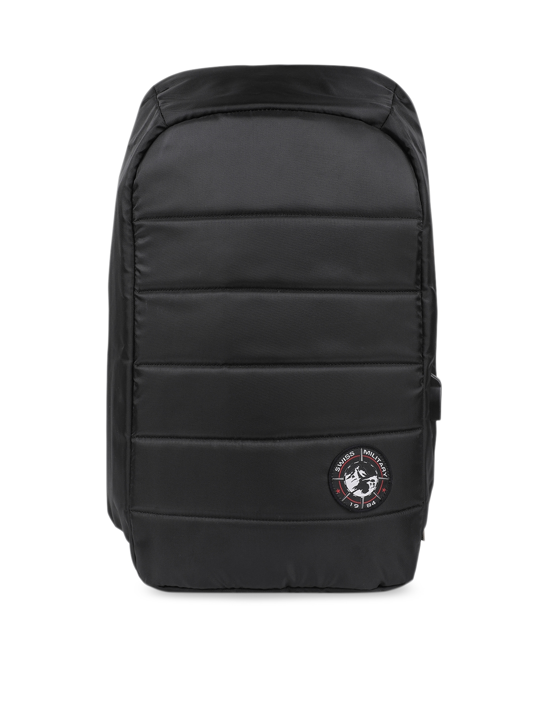 SWISS MILITARY Unisex Black   Black Solid Backpack