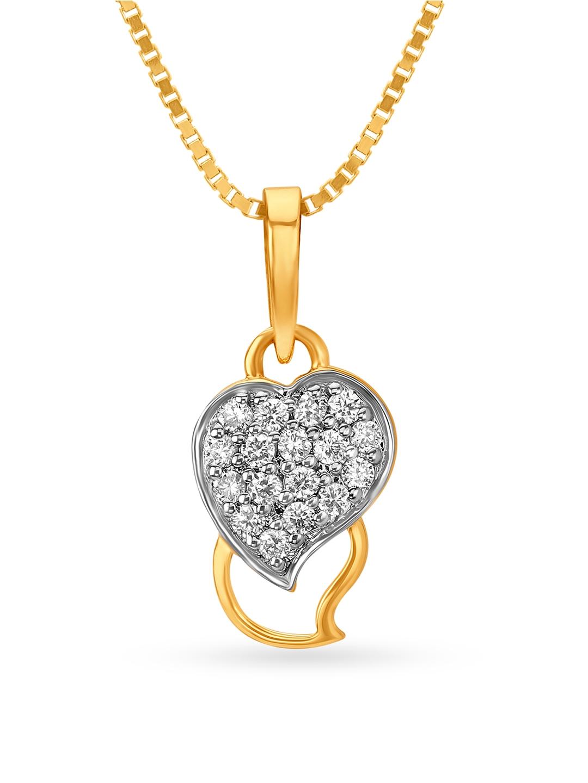 Mia by Tanishq 14KT Yellow Gold Diamond Pendant