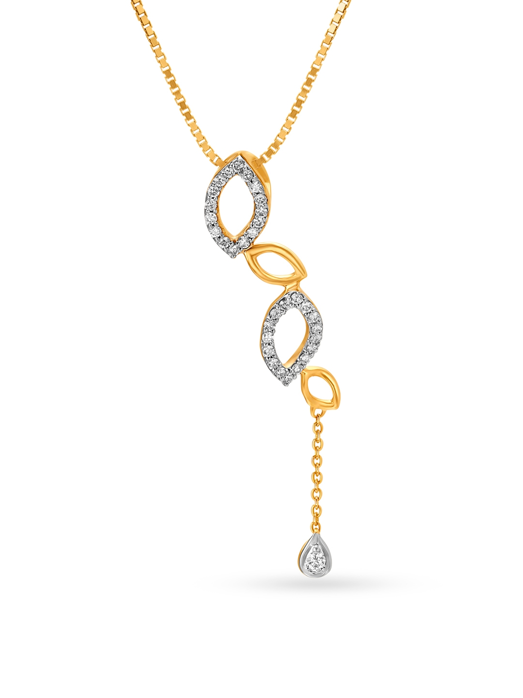 Mia by Tanishq 14KT Yellow Gold Diamond Pendant