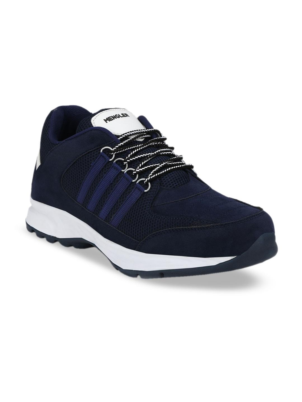 Buy MENGLER Men Blue Mesh Running Shoes