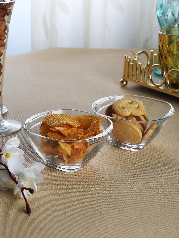 Borgonovo Set of 2 Solid Glass Bowls