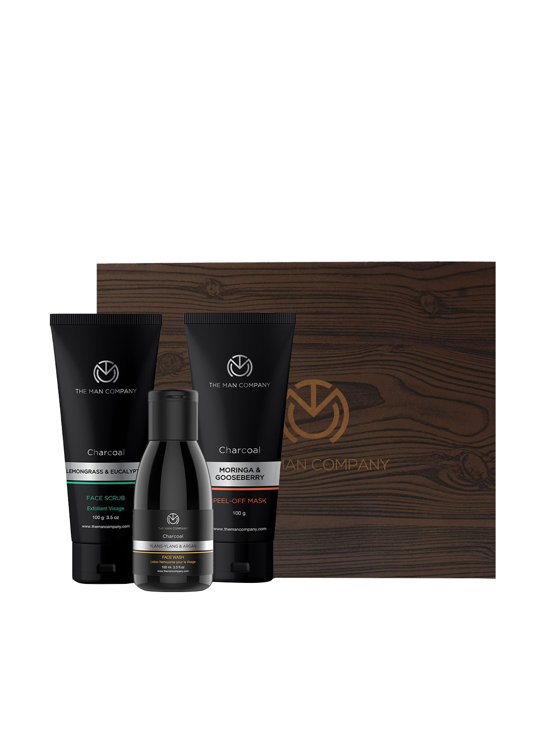 Buy The Man Company Men Charcoal Express Combo Set Of Face Wash Face Scrub And Peel Off Mask Mens Grooming Kit For Men 10297377 Myntra