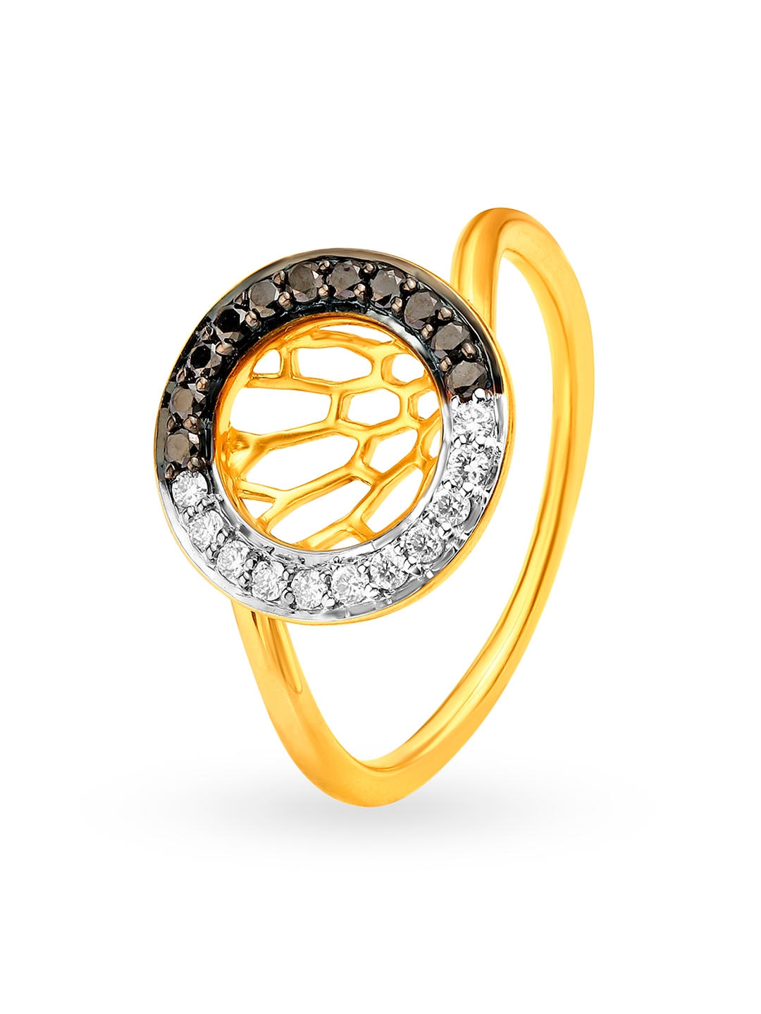 Mia by Tanishq Women 14KT Yellow Gold Diamond Finger Ring