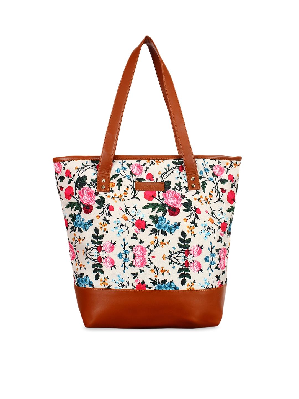 Lychee bags Beige   Brown Printed Shoulder Bag
