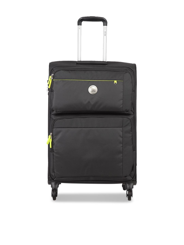 DELSEY Unisex Black Soft Medium Trolley Bag