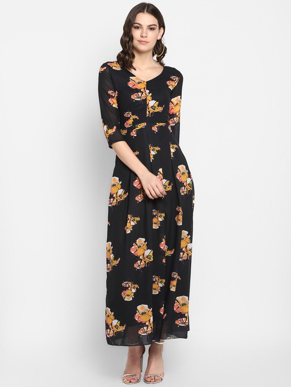 Lady Stark Women Black Maxi Dress